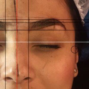 Cejas pelo a pelo con medidas faciales