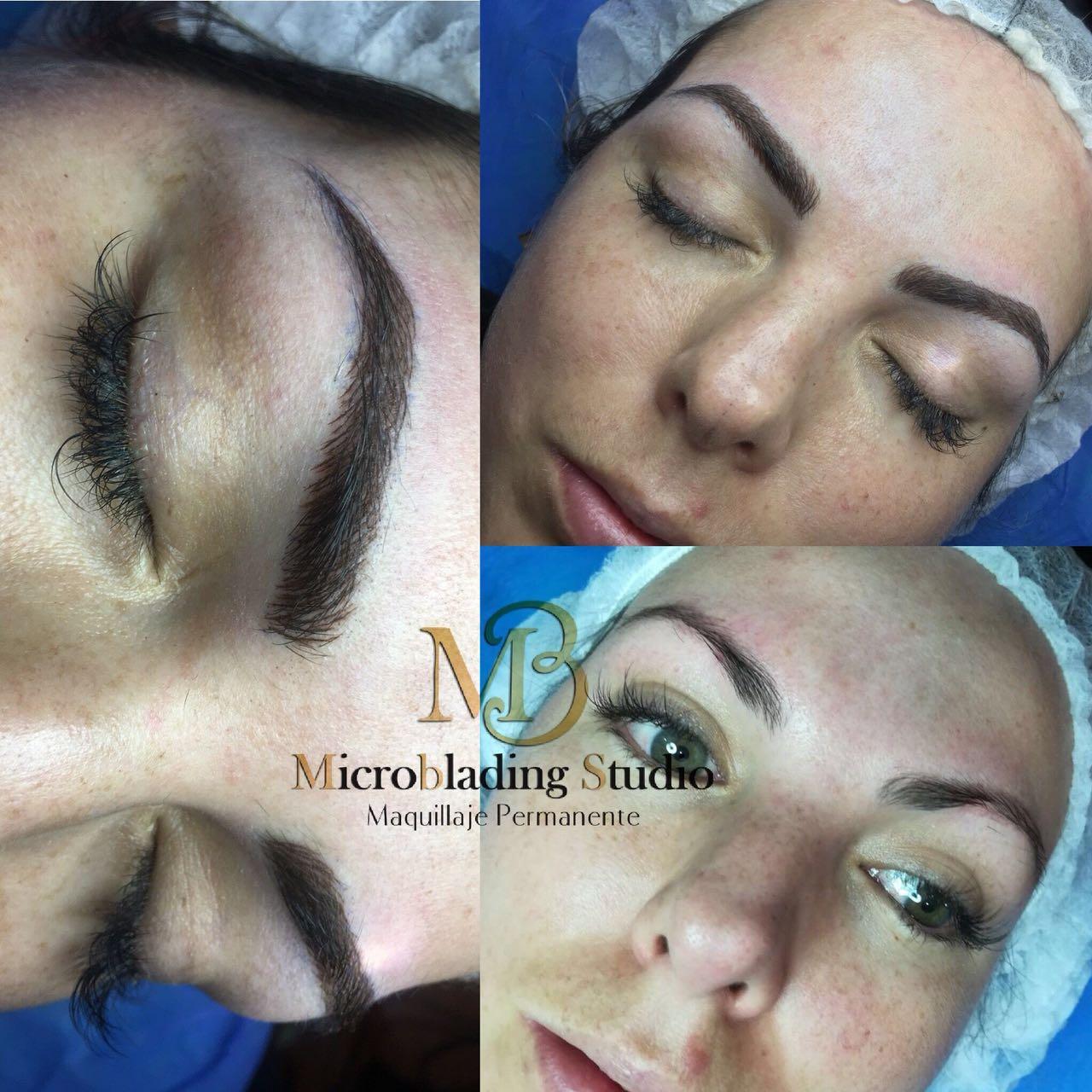 Microblading para cejas en cualquier rostro