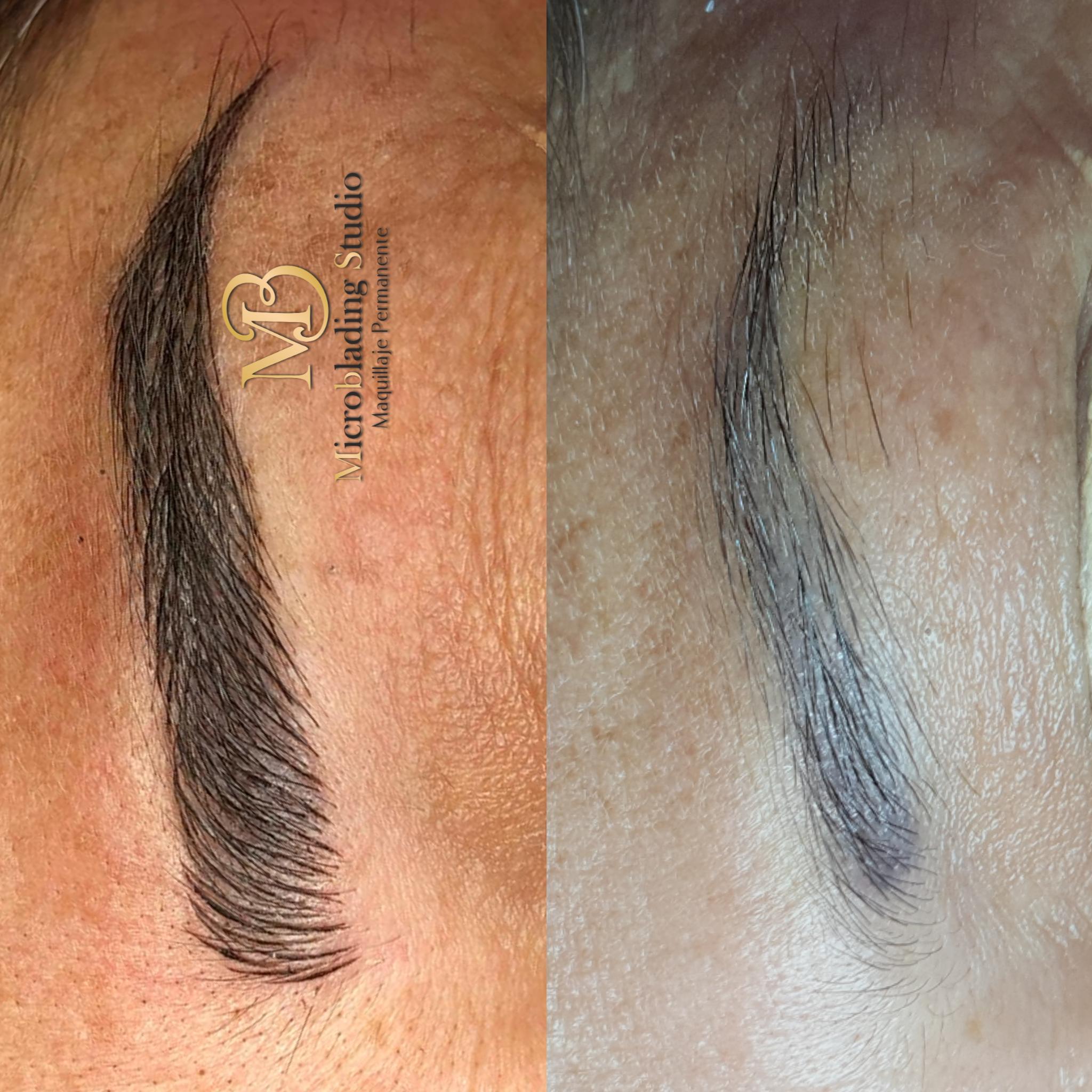 micropigmentacion para cejas antes y despues